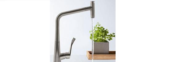 Hansgrohe metris select nieuwe keukenkranen perfect in de hand - Rechthoekige gootsteen ...